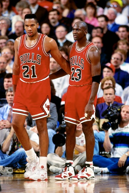 Stacey King y MJ