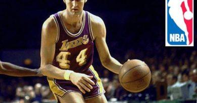 Jerry West y el logo de la NBA