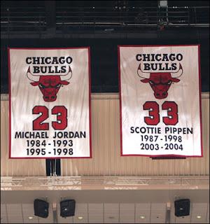 Jordan Pippen camisetas retiradas