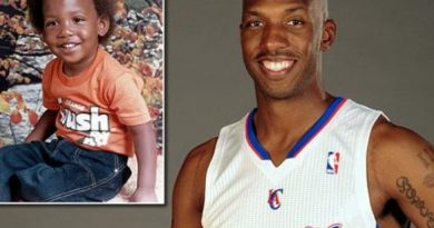 Niños y jugadores de la NBA ya retirados