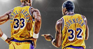 número 32 y 33 Magic y Kareem